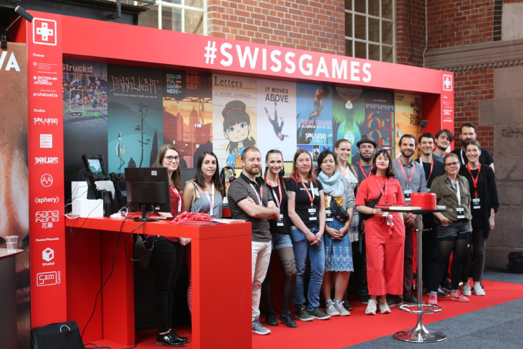 SwissGames booth at Nordic Game Conference 2018