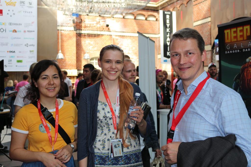 5am Games and Swiss Global Enterprise representative Gustav Henriksson (c) SWISSGAMES