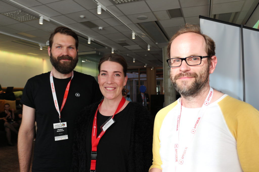 Sphery Studio and Chris Solarski at the Swiss Reception (c) SWISSGAMES