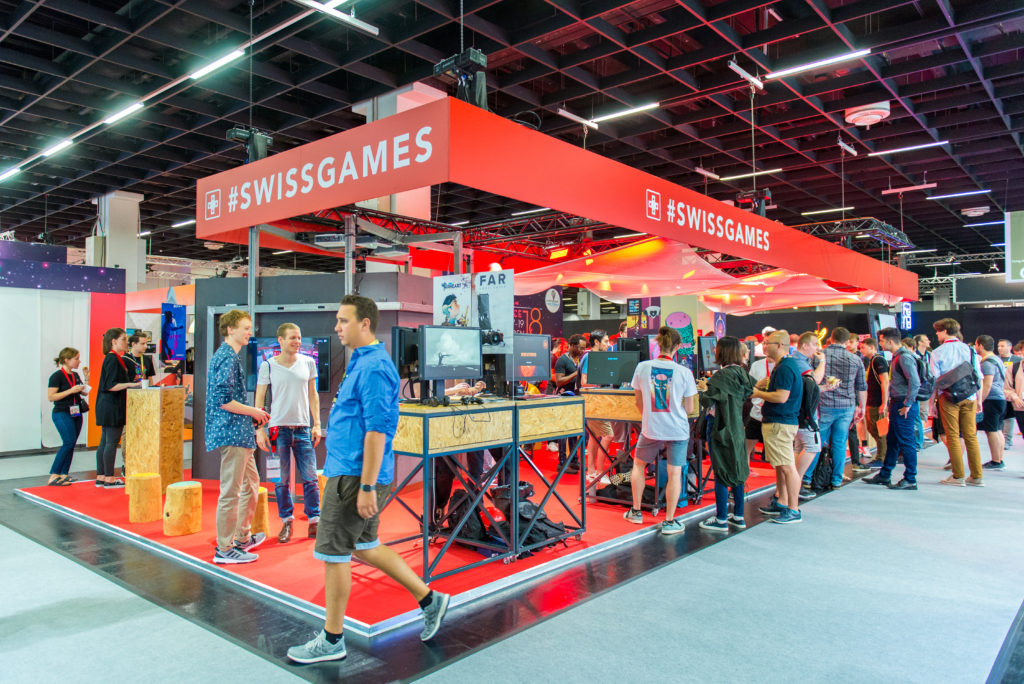 SwissGames at Gamescom 2018 © Julia Malcher PVM production