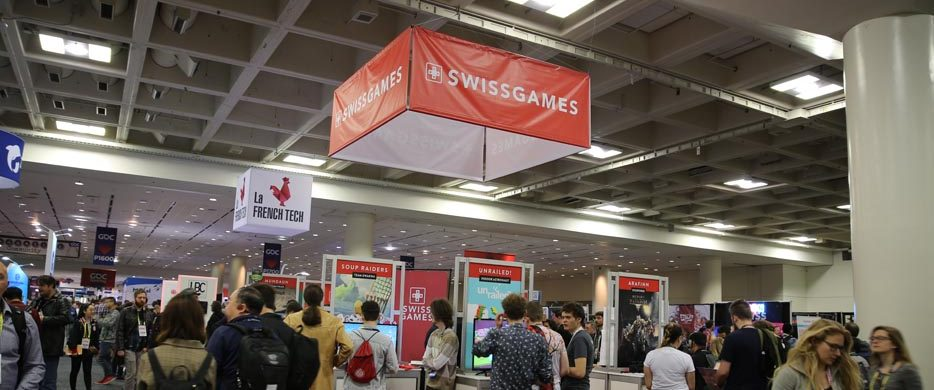 SwissGames Pavilion at GDC 2019 © Perrine Huber
