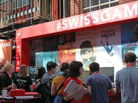 SwissGames booth at Nordic Game Conference 2018 (c) SwissGames