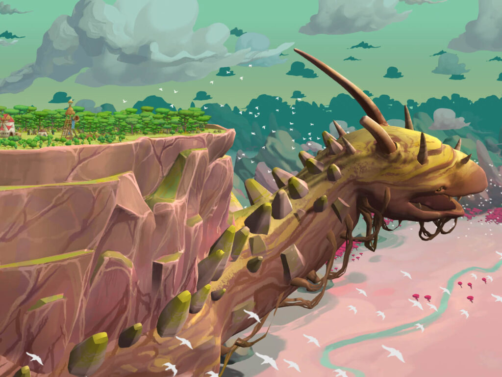The Wandering Village Game Screenshot